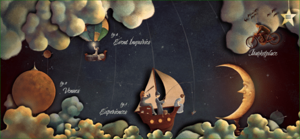 The Neverland Homepage - Example of Illustration in Web Design - Web Design Trends 2020