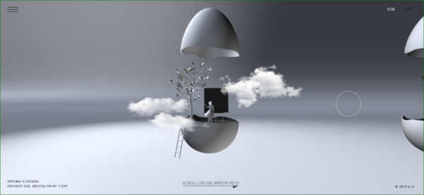A-0.Design Homepage - Example of 3D in Web Design - Web Design Trends 2020