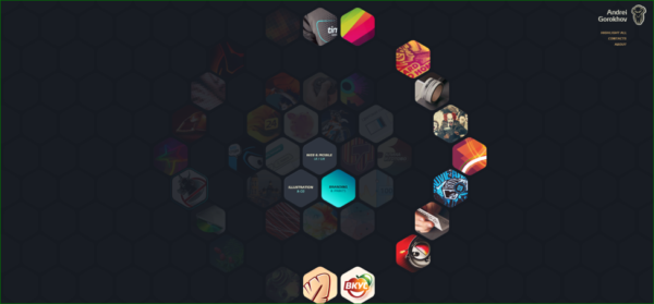Andrei Gorohov Homepage - Example of Geometric Shapes in Web Design - Web Design Trends 2020