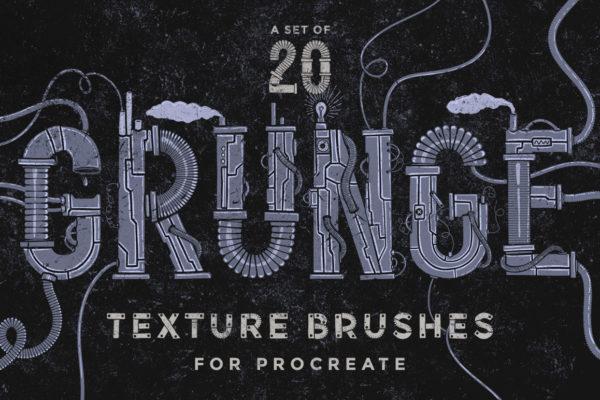 Procreate Grunge Texture Brushes
