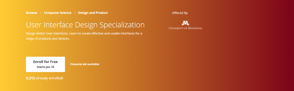 User Interface Design Specialization