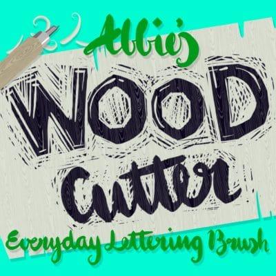 Wood Cutter Lettering Brush
