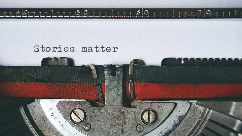Stories matter typewriter - Write Your Brand Story
