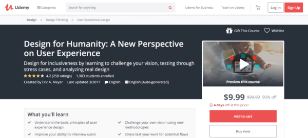 Udemy: Design for Humanity: A New Perspective on User Experience