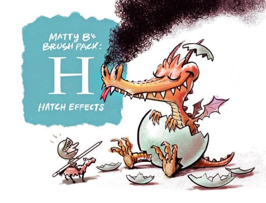 Hatch Effect Procreate Brush Pack