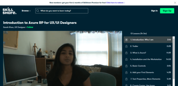 Skillshare: Introduction to Axure RP for UX/UI Designers