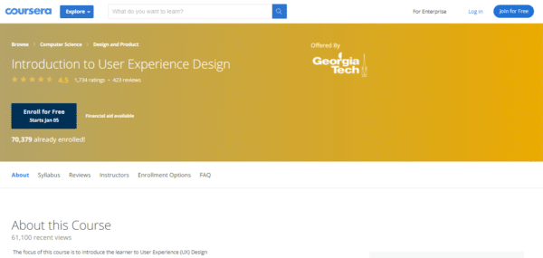 Coursera: Introduction to User Experience Design