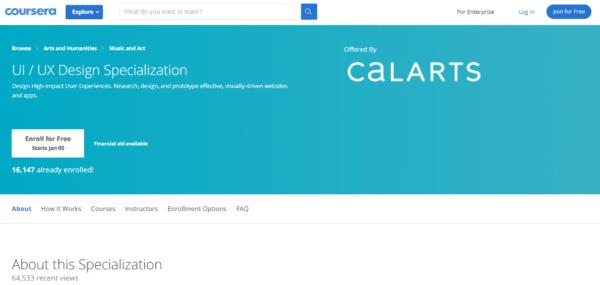 Coursera: UX/UI Design Specialization