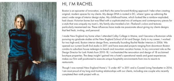 Rachel Deider's website - Brand Story - Build Your Personal Brand as a Freelancer