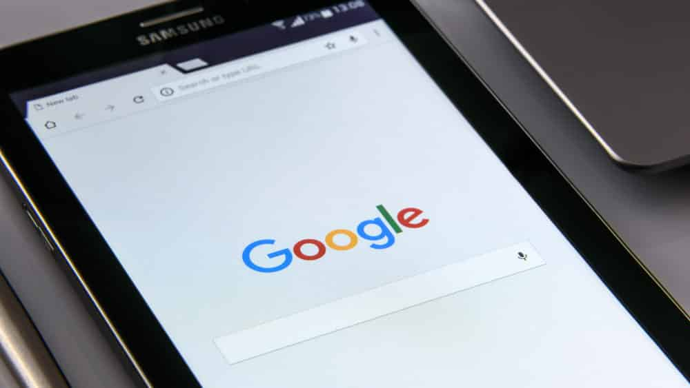 Google Search on Black Tablet - 8 Creative Ways To Stand Out With SEO