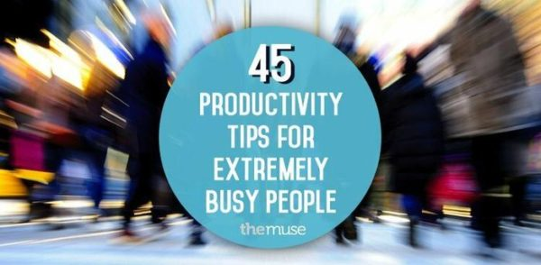 Headline showing 45 Productivity tips for extremely busy people - Content User Experience 101