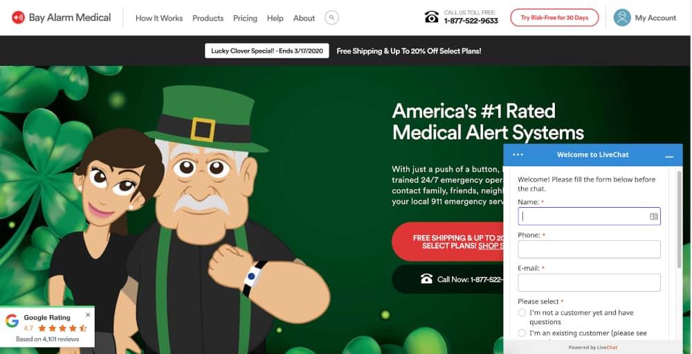 Bay Alarm Website Chat Bot - Digital Marketing in 2020