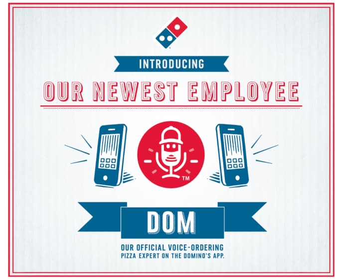 Domino's Voice Ordering Graphic - Voice Search - Digital Marketing in 2020