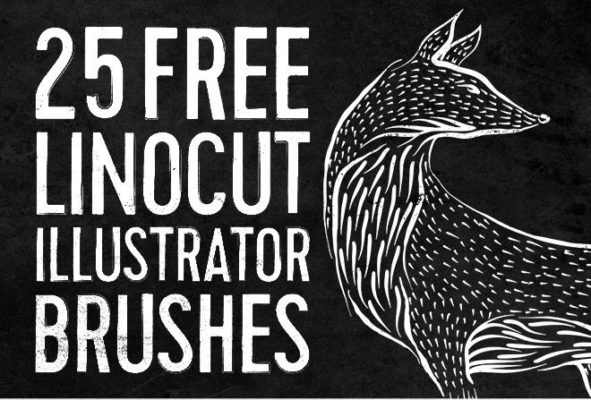 Linocut Vector Brushes