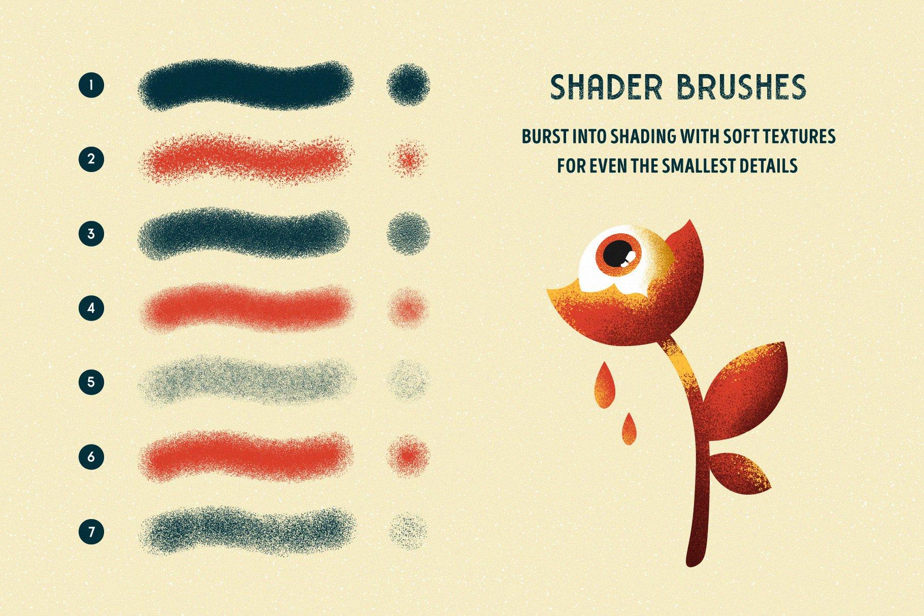 Memento Shader Brushes For Illustrator