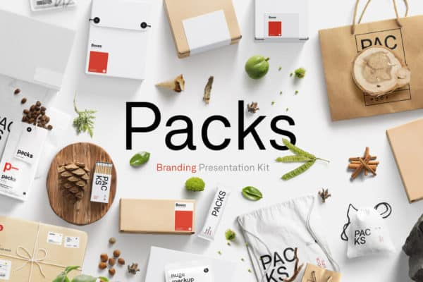 Packs Mockup Collection - Branding Presentation Kit