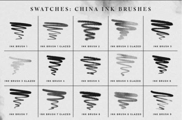Photoshop Ink Brushes-2