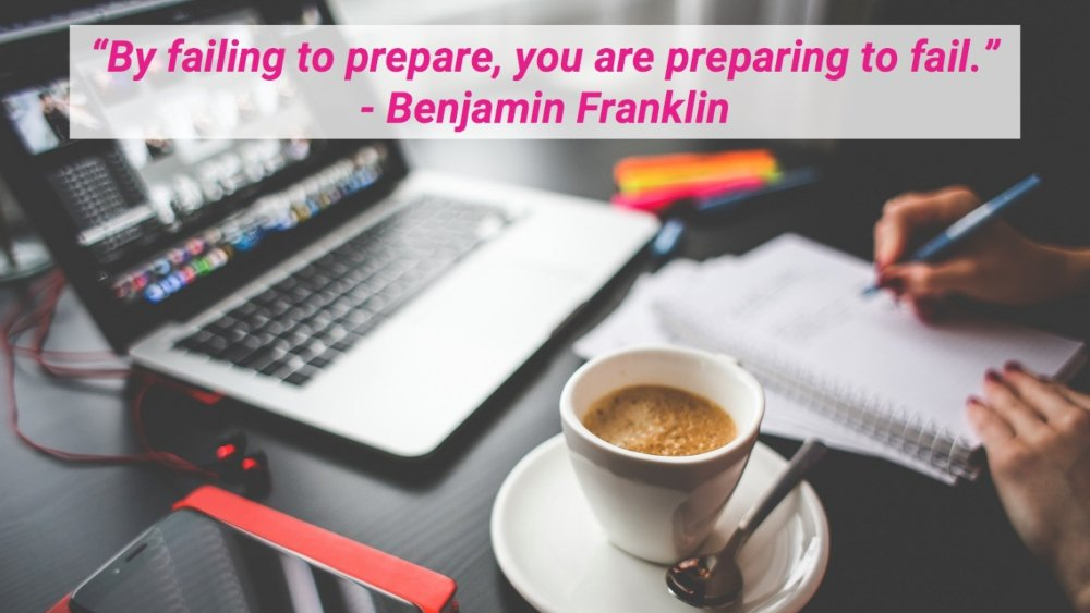 Benjamin Franklin's preparation quote applies to your UI/UX job search