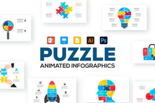 Puzzle Infographics Presentations