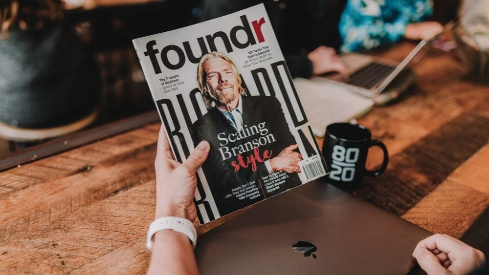 Richard Branson on Foundr magazine cover - How to Build a Brand During a Downturn