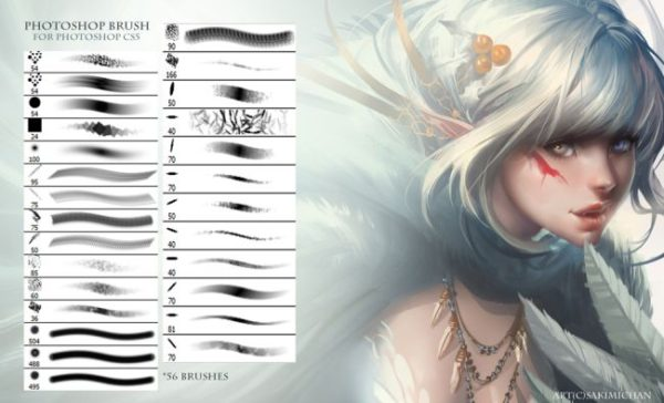 Sakimichan – Photoshop Brushes for painting