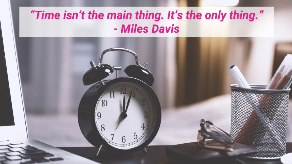 Miles Davis' quote about time being the only thing applies to being efficient when applying for UI/UX jobs