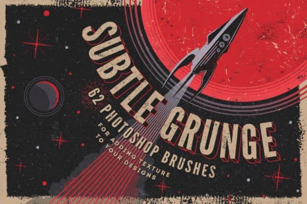 Subtle Grunge Photoshop Brushes