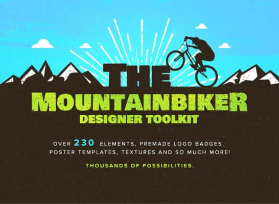 The Designer Mountain Bike Logos Kit