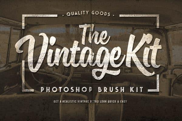 The Vintage Kit - Photoshop Brushes