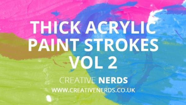 Thick acrylic paint strokes Vol. 2