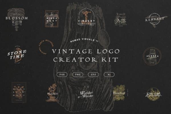 Bộ công cụ tạo logo cổ điển