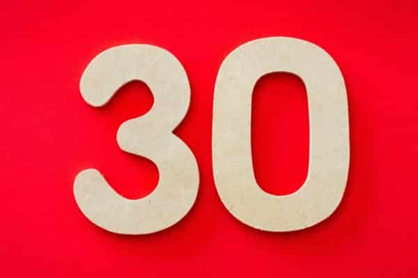 30 digits on red background - Bulletproof Marketing Strategies for a Thriving Business