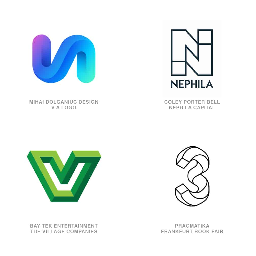 Logo Design Trends 2020 - Letter Illusions