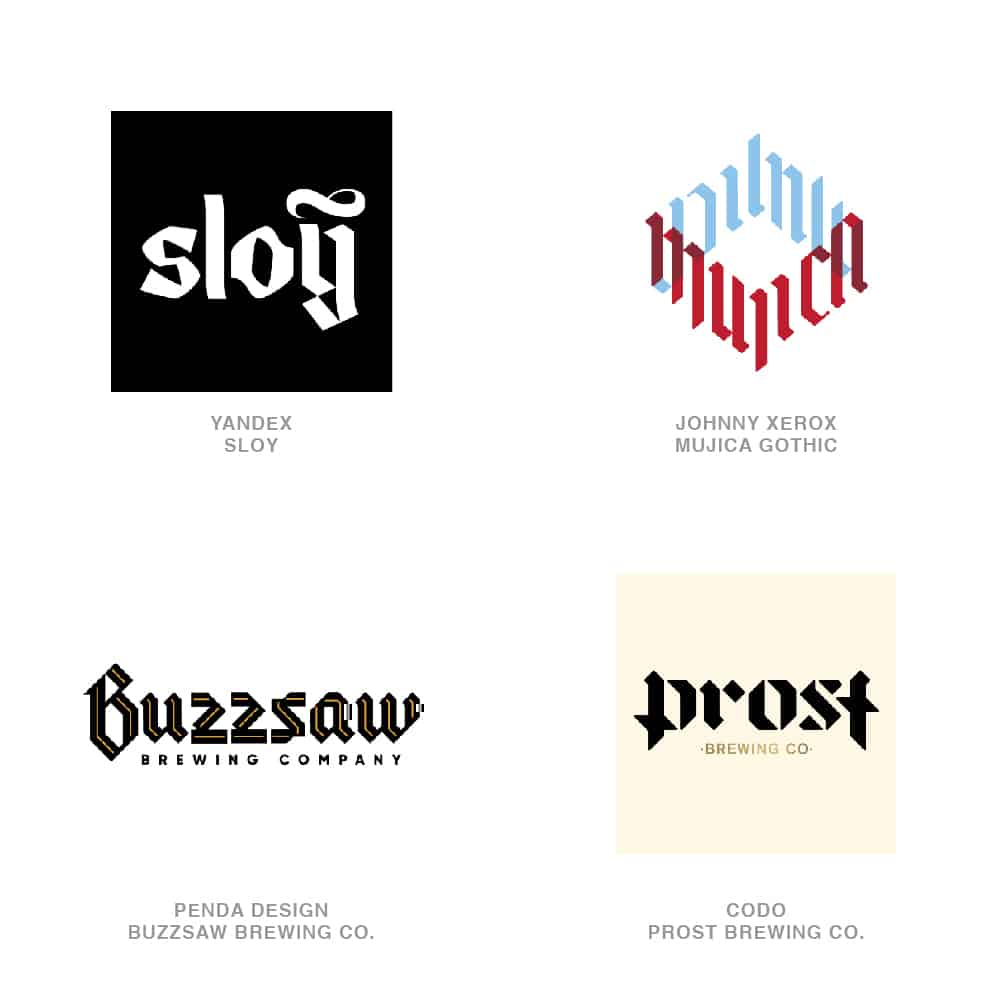 Logo Design Trends 2020 - Black Letter