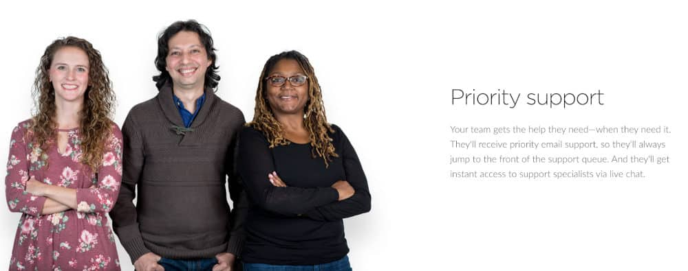 Articulate E-Learning Platform Landing Page Uses Image of People