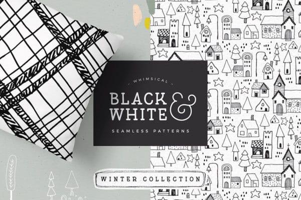 Black & White Winter Patterns