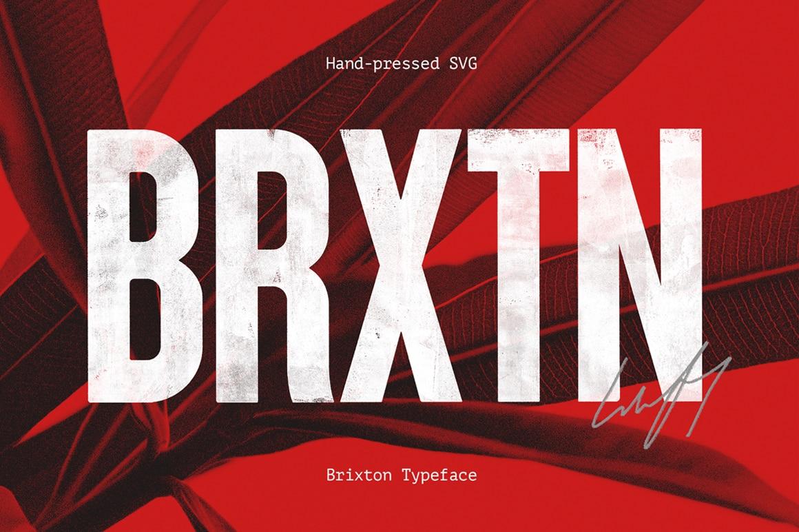 Brixton SVG Handprinted Fonts
