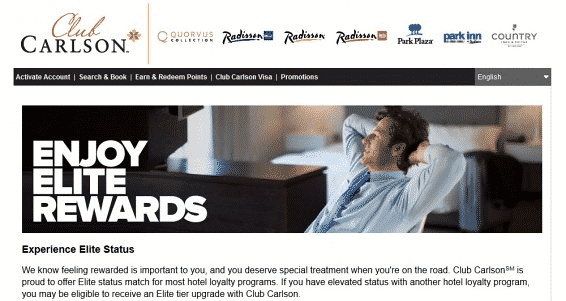 Club Carlson Elite Rewards for Customer Loyalty