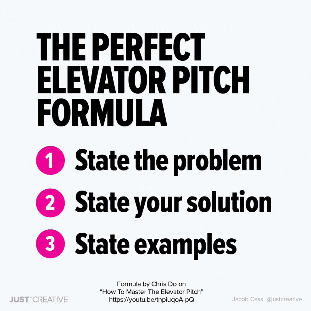 The Perfect Elevator Pitch Formula