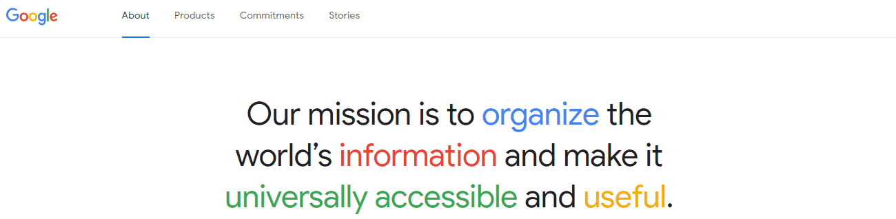 Google Position Statement in Branded Colors