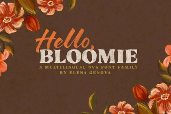 Hello Bloomie – SVG Font Family