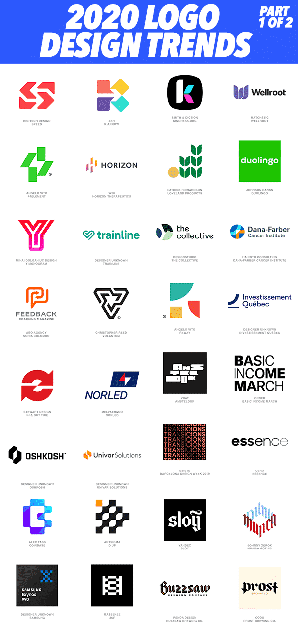 Logo Design Trends Report 2020 - 1 of 2