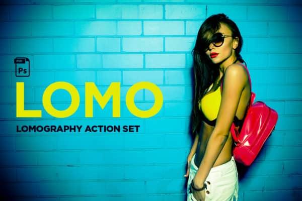 Lomography Photoshop Action Set