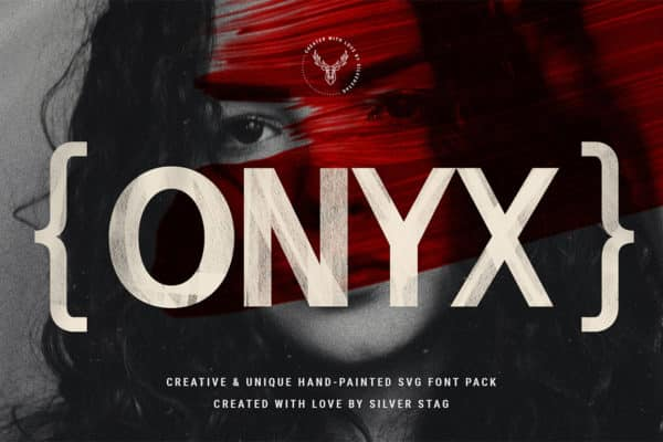 Onyx – Hand-Painted.SVG 6 Font Pack