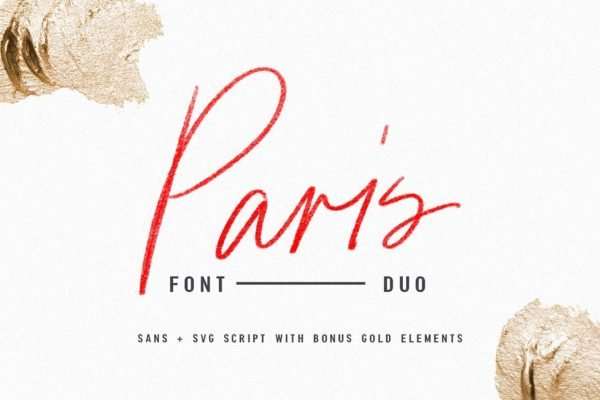 Paris Font Duo + SVG with Extras