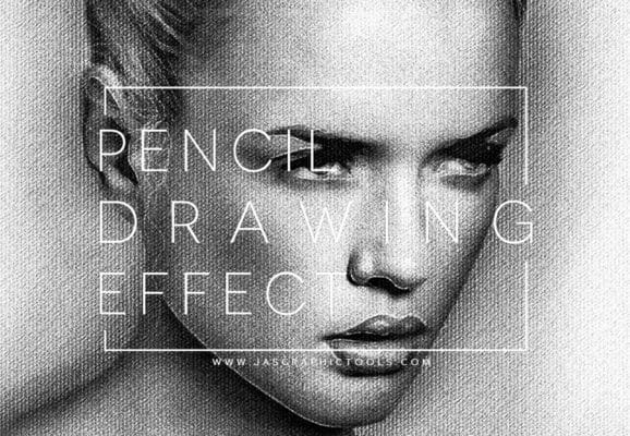 Realistic Pencil Drawing Effect