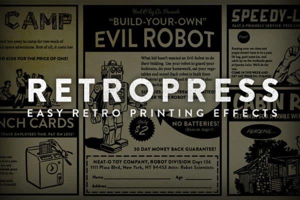RetroPress – Photoshop Actions
