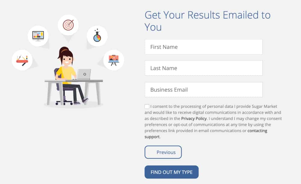Salesfusion quiz results are interactive content used to secure leads