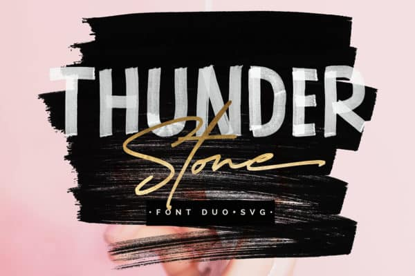 Thunder Stone Font Duo