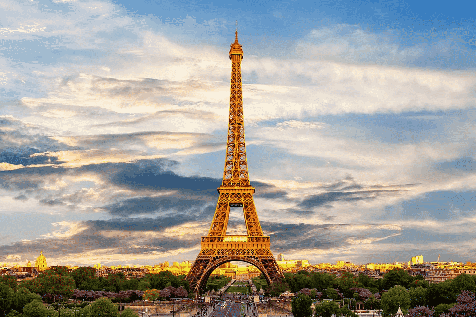 Eiffel Tower commonly used for geographic branding